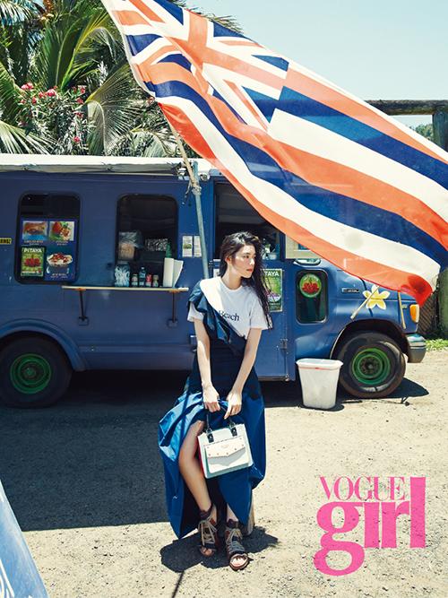 Photo of [FS화보] 정은채, 맥스 드레스 입고 '하와이 여신' 등극