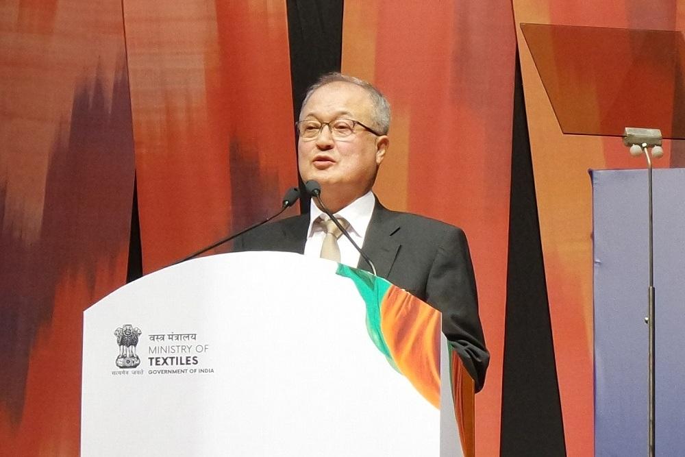 Photo of 성기학 섬산련 회장, 텍스타일 인디아 기조 연설