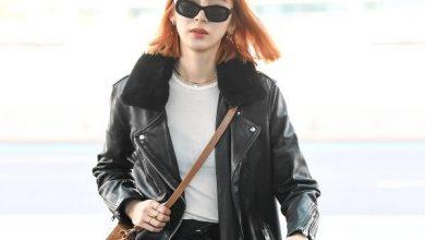 Photo of 모델 아이린, 가죽자켓의 계절 봄이 왔어요