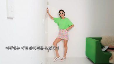 김나영 노필터티비 샌들 스타일링